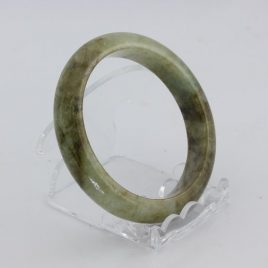 Bangle Bracelet Jade Comfort Cut Burma Jadeite Natural Stone 56.5 mm 7 inch