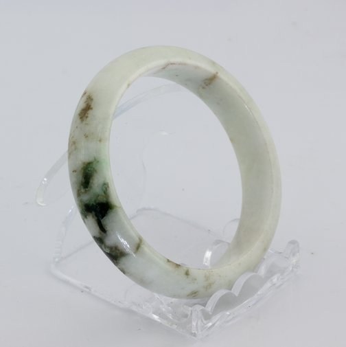 Bangle Bracelet Jade Burma Jadeite Natural Stone Comfort Cut 55.4 mm 6.85 inch
