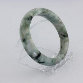 Bangle Bracelet Jade Comfort Cut Burma Jadeite Natural Stone 59.8 mm 7.4 inch