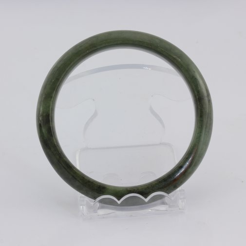 Bangle Bracelet Jade Comfort Cut Burma Jadeite Natural Stone 60.8 mm 7.5 inch