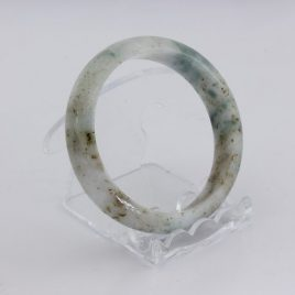 Bangle Bracelet Jade Round Cut Burma Jadeite Natural Stone 55.5 mm 6.9 inch
