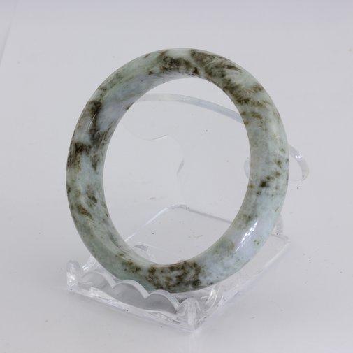 Bangle Bracelet Jade Comfort Cut Burma Jadeite Natural Stone 54.8 mm 6.8 inch