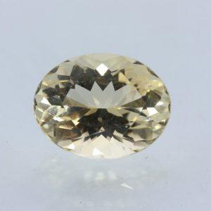 Citrine Yellow Burma Quartz Precision 12x9 mm Octagon VVS Eye Clean 3.27 carat