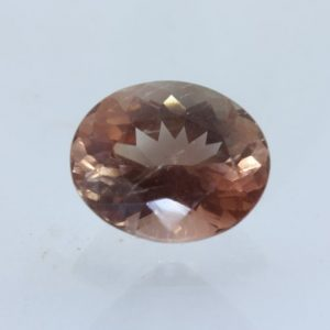 Sunstone Oregon Copper Shiller Orange Precision Faceted 10x8 mm Oval 2.68 carat
