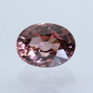 Red Orange Zircon Faceted 8x6 mm Oval VS Clarity Tanzania Gemstone 2.27 carat