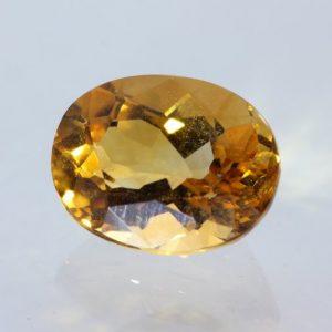 Citrine Light Orange Burma Quartz Precision 9x7 mm Oval VS Eye Clean 1.80 carat