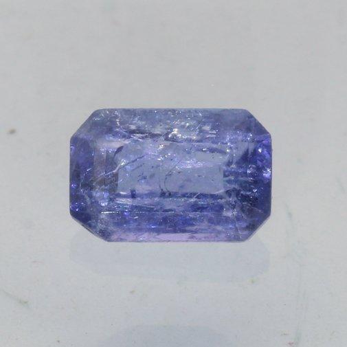 Tanzanite Blue Purple 6.5x4 mm Faceted Octagon VS Clarity Natural Gem .75 carat