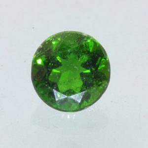 Chrome Diopside Grass Green SI1 Clarity Gemstone Faceted 6x6 mm Round .86 carat
