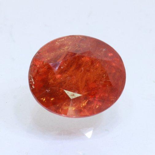 Spessartite Garnet Orange Red I2 Clarity Gem Faceted 10x7.5mm Oval 2.06 carat