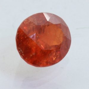 Spessartite Garnet Orange Red I2 Clarity Gem Faceted 10x7.5mm Oval 2.06 carat
