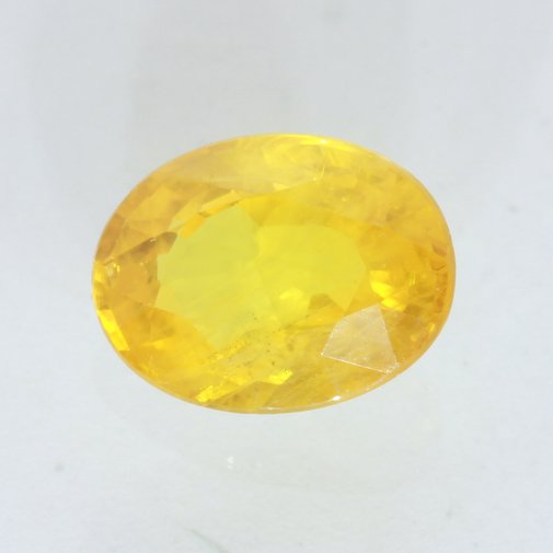 Dandelion Yellow Sapphire 8x6 mm Oval Natural Africa Be Enchanted Gem 1.95 carat