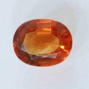 Citrine Orange Burma Quartz Faceted 10x7.5 mm Oval VS Eye Clean Gem 2.31 carat