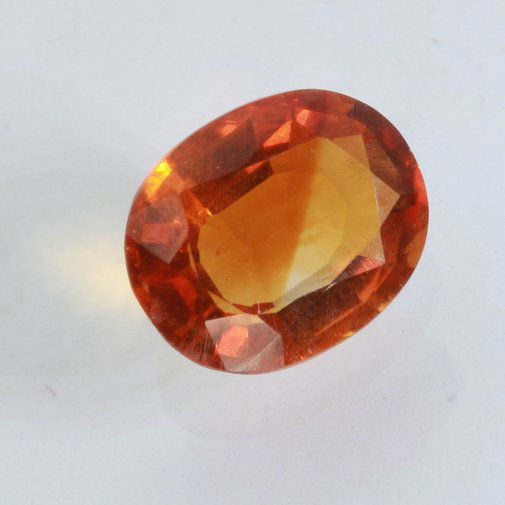 Citrine Orange Burma Quartz Faceted 10x7.5 mm Oval VS Eye Clean Gem 2.31 carat