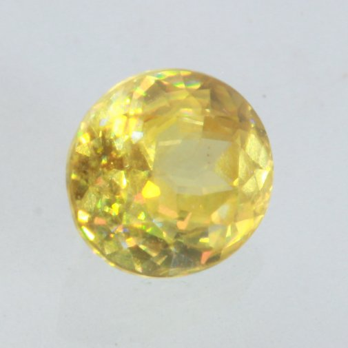 Sphene Yellow Green Sparkling Precision Faceted Oval I2 Clarity Gem .84 carat