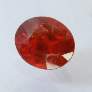 Spessartite Garnet Orange Red SI2 Gem Precision Faceted 8.5x7 mm Oval 2.52 carat