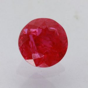 Red Ruby Lab Created Precision Faceted 8x8 mm Round SI2 Flux Included 2.41 carat