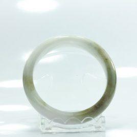 Bangle Bracelet Jade Comfort Cut Burma Jadeite Natural Stone 51.5 mm 6.4 inch
