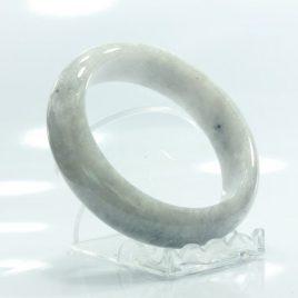 61 mm White Crystal Quartz Bangle Natural Untreated Stone Bracelet 7.5 inch