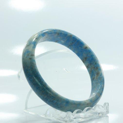 59.8 mm Burma Blue Denim Lapis Lazuli Untreated Stone Bangle Bracelet 7.4 inch