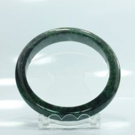 Bangle Bracelet Jade Comfort Cut Burma Jadeite Natural Stone 62 mm 7.7 inch