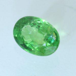 Tsavorite Garnet Grass Green 7.6x5.4 mm Oval Natural VS Clarity Gem 1.26 carat