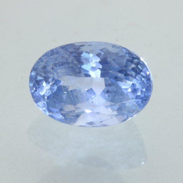 Ceylon Sapphire Cornflower Blue Faceted 8.1x5.6mm Oval VS Clarity Gem 1.87 carat