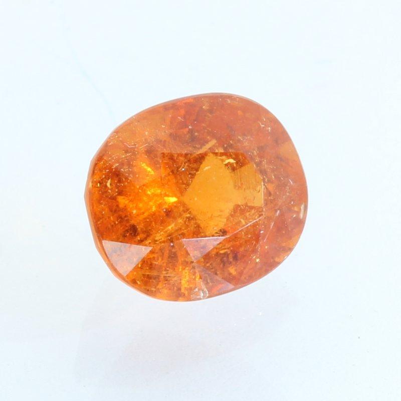 Mandarin Orange Spessartine Garnet Faceted Oval Fanta Spessartite Gem 4.39 carat