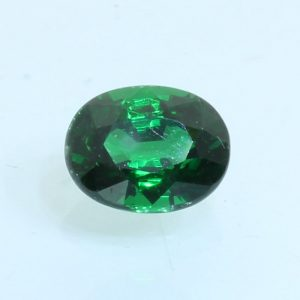 Tsavorite Garnet Green Faceted 6.8x5.3 mm Oval Natural VS Clarity Gem 1.12 carat