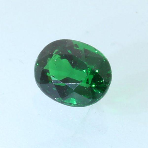 Tsavorite Garnet Green Faceted 6.8x5.3 mm Oval Natural VS Clarity Gem 1.12 carat