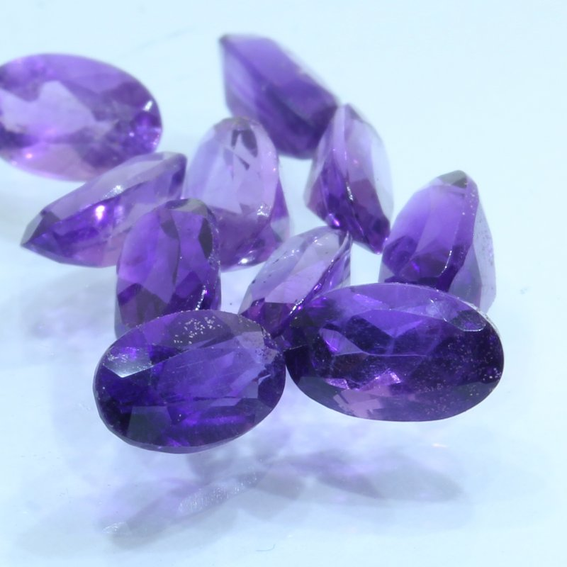 Amethyst One Light Purple Hand Faceted 5x3 mm Oval Natural Gem Average .21 carat