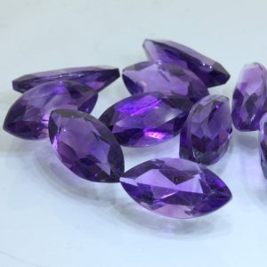 Amethyst One Light Purple Faceted 12x6mm Marquise Natural Gem 16.84 carats total