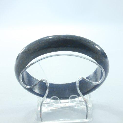 Lapis Lazuli Bangle Deep Blue Untreated Burma Stone Bracelet 7.5 inch 61 mm