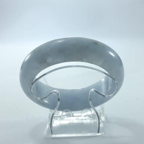 Bangle Chalcedony Quartz Light Gray Blue Natural Stone Bracelet 60.5 mm 7.5 inch