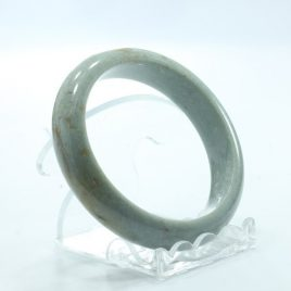 Bangle Bracelet Jade Comfort Cut Natural Stone Burma Jadeite 57 mm 7.0 inch