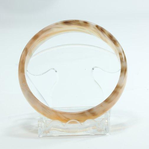 Bangle Banded Quartz Striped Agate Untreated Stone Bracelet 7.7 inch 62 mm