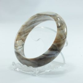 Bangle Petrified Wood Natural Ancient Stone Untreated Bracelet 61.4 mm 7.6 inch