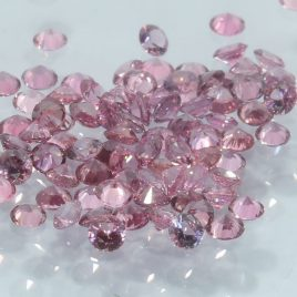 One Pink Sapphire Well Faceted 2.5 mm Round Accent Gemstone Averages .05 carat