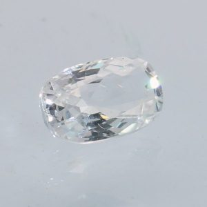 White Sapphire Faceted 7.5x5 mm Oval Sparkling Ceylon Heat Only VS 1.28 carat