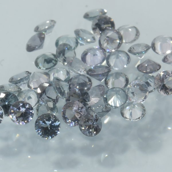Spinel One White Mogok Burma Faceted Rounds 2.5 mm Accent Gem Averages .06 carat