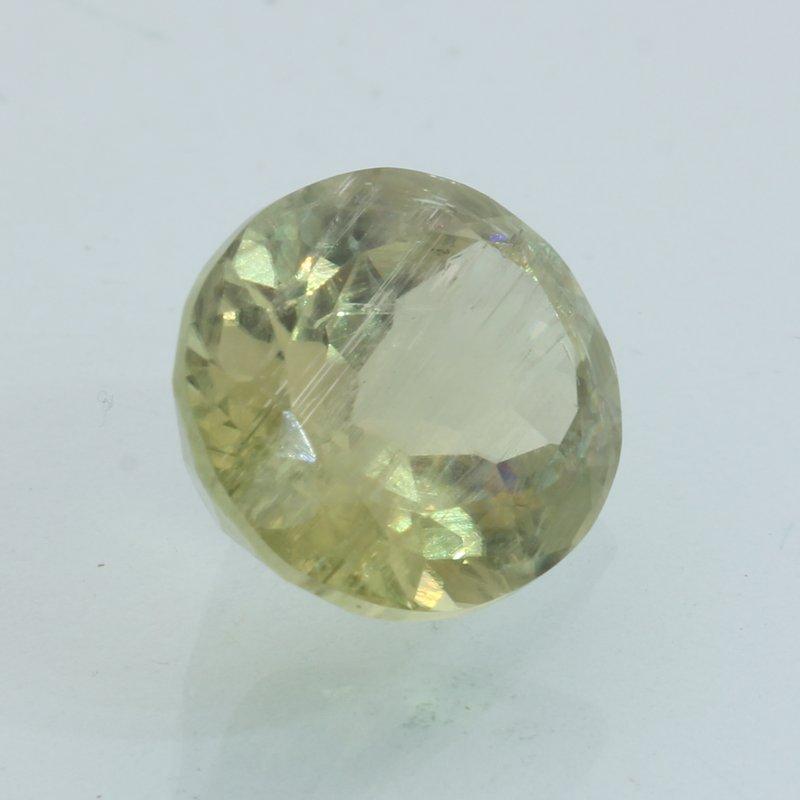 Sunstone Oregon Copper Shiller 13x10.6 mm Percision Faceted Oval Cut 6.39 carat