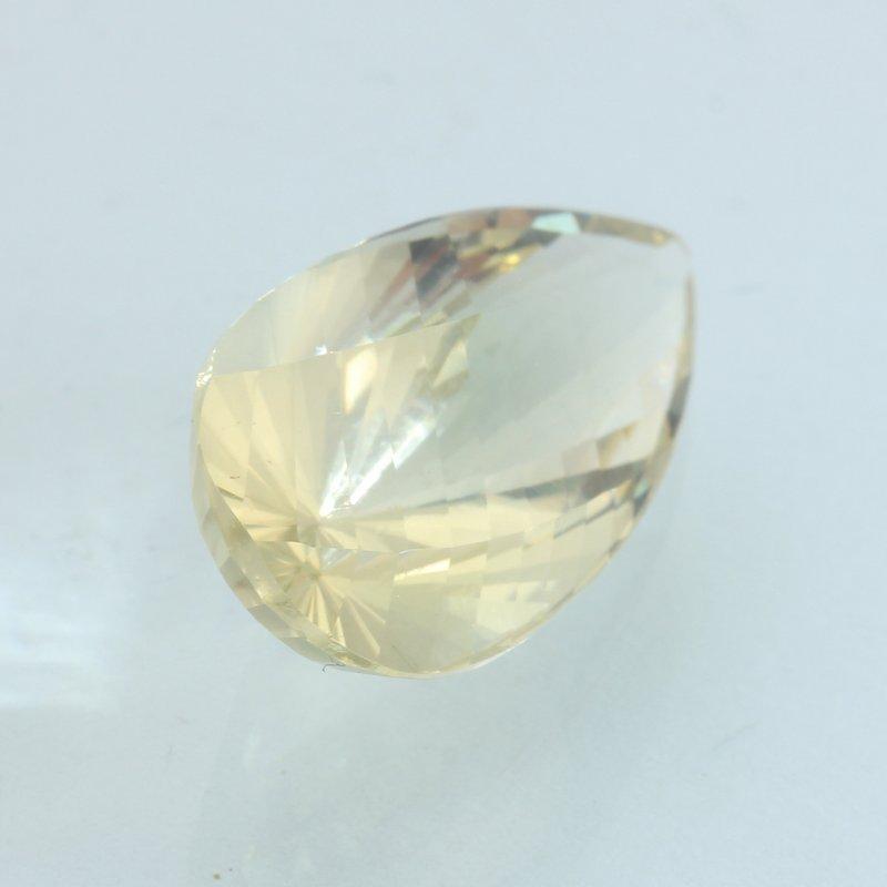 Sunstone Oregon Soft Yellow 19.9x9.8 mm Faceted Fancy Pear Cut Gem 7.11 carat