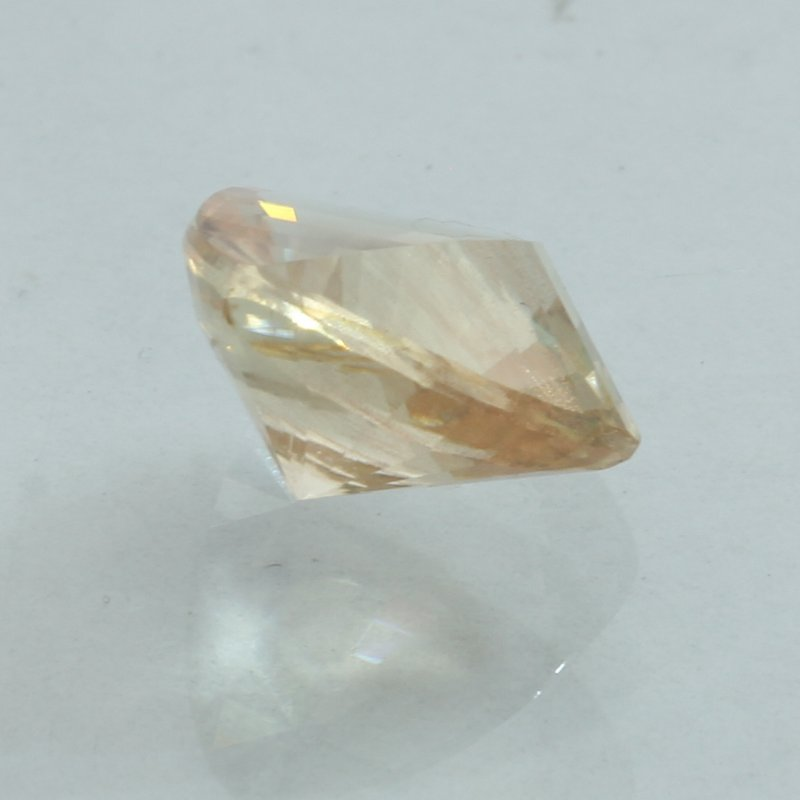 Sunstone Oregon Copper Shiller 9.6x9.0 mm Percision Faceted Square 2.68 carat