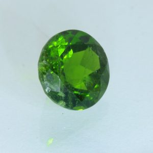 Green Chrome Diopside Faceted Round 8 mm SI2 Untreated India Gemstone 2.37 carat