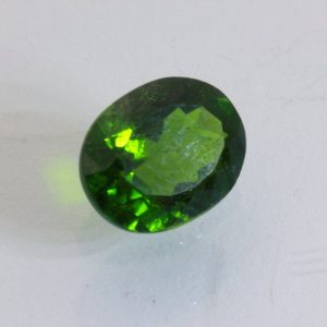 Green Chrome Diopside Faceted 10 x 8 mm SI2 Oval India Gemstone 2.79 carat