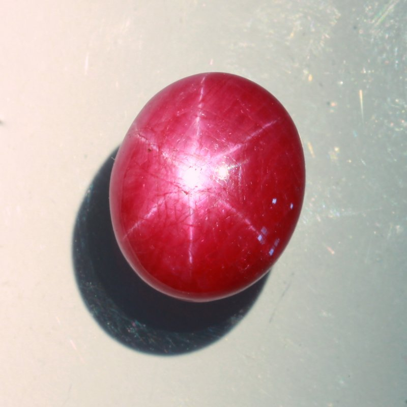 Purple Red Star Ruby 13.4 x 11.1 mm Oval No Treatment India Natural 13.41 carat