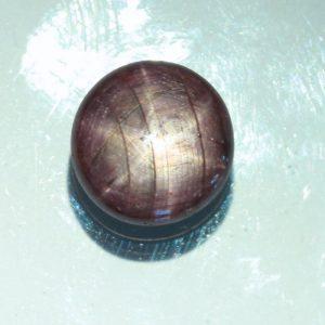 Dark Purple Star Sapphire India Star Ruby 10 mm Round No Treatment 7.90 carat