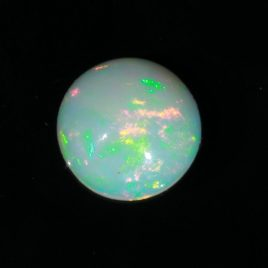 Opal Welo 9.5 mm Round Cabochon Untreated Wollo Ethiopia Gemstone 2.00 carat