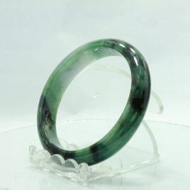 Jade Bangle Burmese Jadeite Comfort Cut Natural Stone Bracelet 7 inch 57 mm
