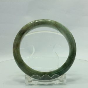 Jade Bangle Burmese Jadeite Comfort Cut Natural Stone Bracelet 6.8 inch 55 mm