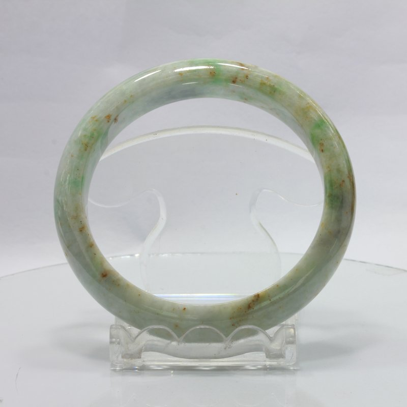 Jade Bangle Burmese Jadeite Comfort Cut Natural Stone Bracelet 7.2 inch 58 mm